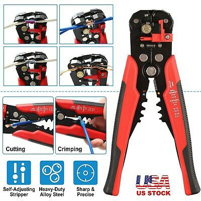 8/'/' Metal Self-Adjusting Wire stripper Cable Cutter Electrician Crimping Tool