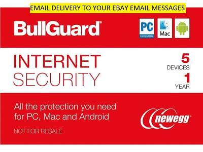 MAC Genuine Item Android 3 Users 1 Year BullGuard 2019 Internet Security PC