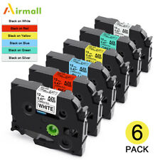 6pk Label Tape Tze 231 Tze131 731 12mm Compatible For Brother P Touch D210 H110