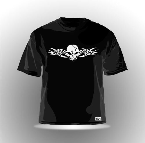 "EAKS® Herren T-Shirt /""TRIBAL SKULL/"" schwarz Tattoo Totenkopf Gothic Death Metal"