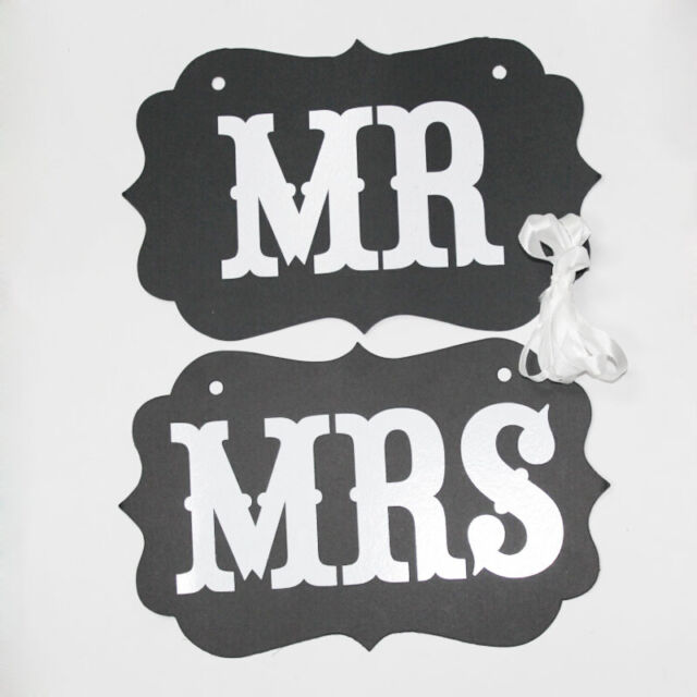 DIY MR MRS + Ribbon Wedding Chair Garland Birthday Party Decorations Photo Props
