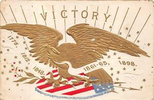 MILITARY PATRIOTIC EAGLE FLAG REVOLUTION MEXICO CIVIL WAR SPANISH POSTCARD