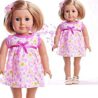 "New Handmade Purple flower skirt Dress outfits American Girl  18/"" Doll Selection"