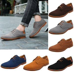 US-Men-039-s-Fashion-Formal-Leather-Dress-Oxfords-Business-Lace-up-Casual-Shoes