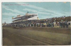 USA-Grand-Stand-Minnesota-State-Fair-1911-Postcard-B412