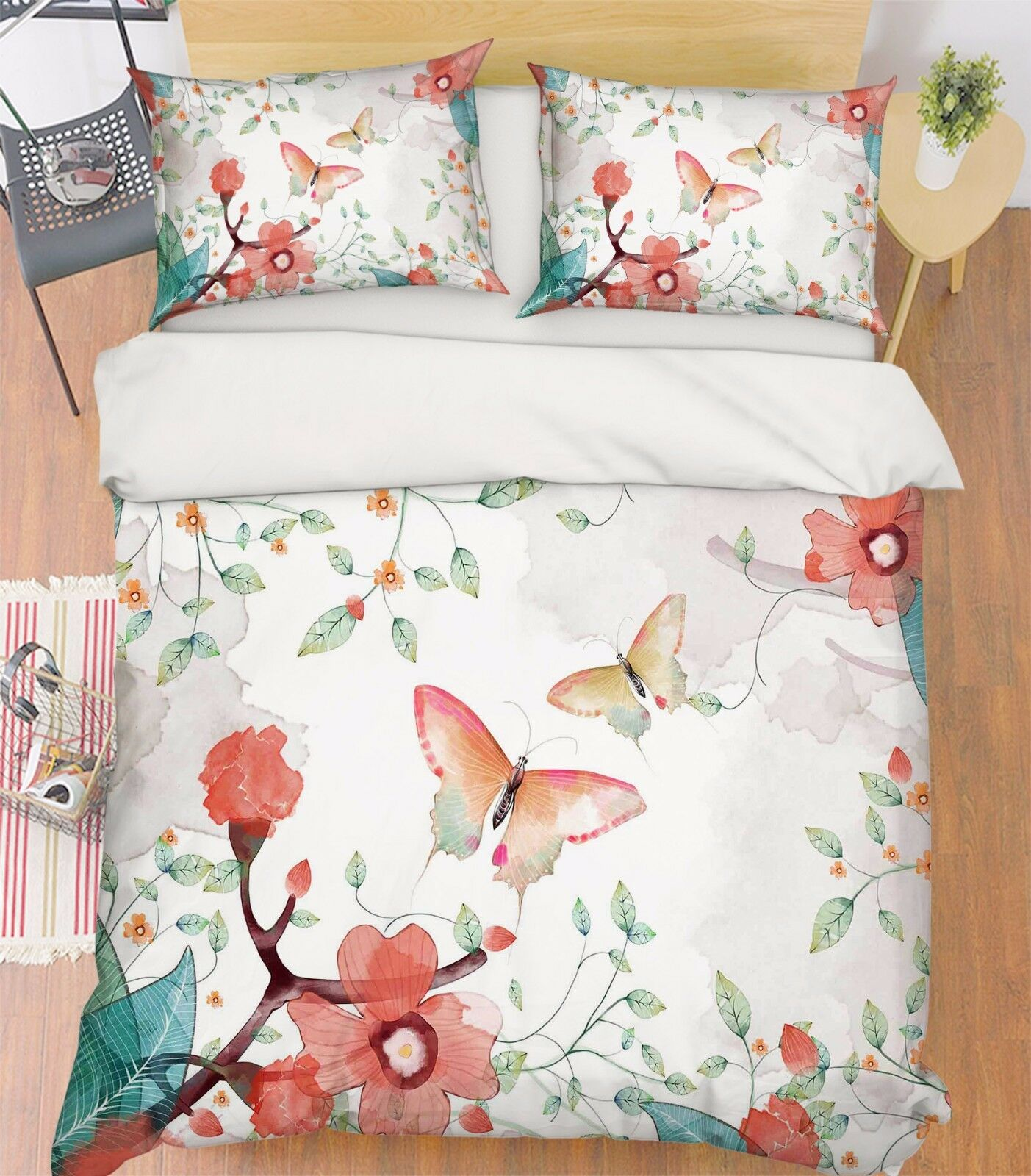 3D Butterfly 814 Bed Pillowcases Quilt Duvet Cover Set Single Queen UK Carly