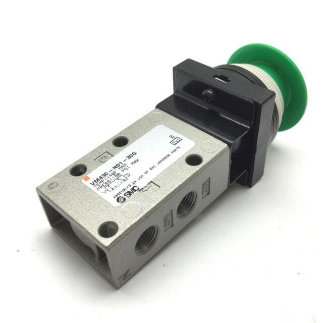 Smc NVM130-N01-30G Green Pushbutton Mechanical Valve