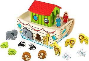 Kidkraft-17-Pieces-Noahs-Ark-Shape-Sorter-Learning-Toy-For-Kids-63244-NEW