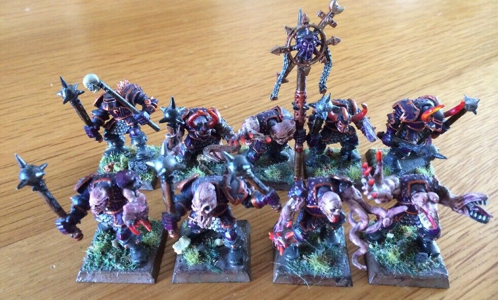Warhammer Miniatures Chaos Warriors Of Slaanesh PRO Paint Lot Of 9 RARE