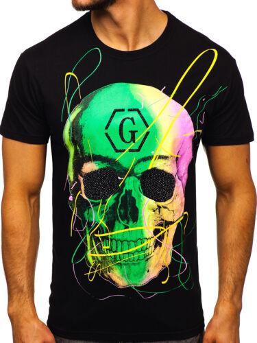 T-Shirt Tee Rundhals Kurzarm Casual Slim Fit Basic Sport Herren BOLF Unifarben
