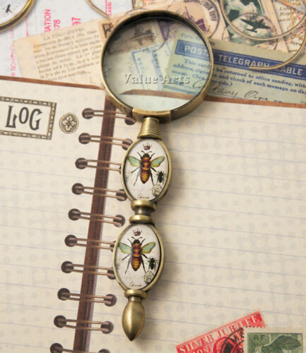 glass handle bee magnifier