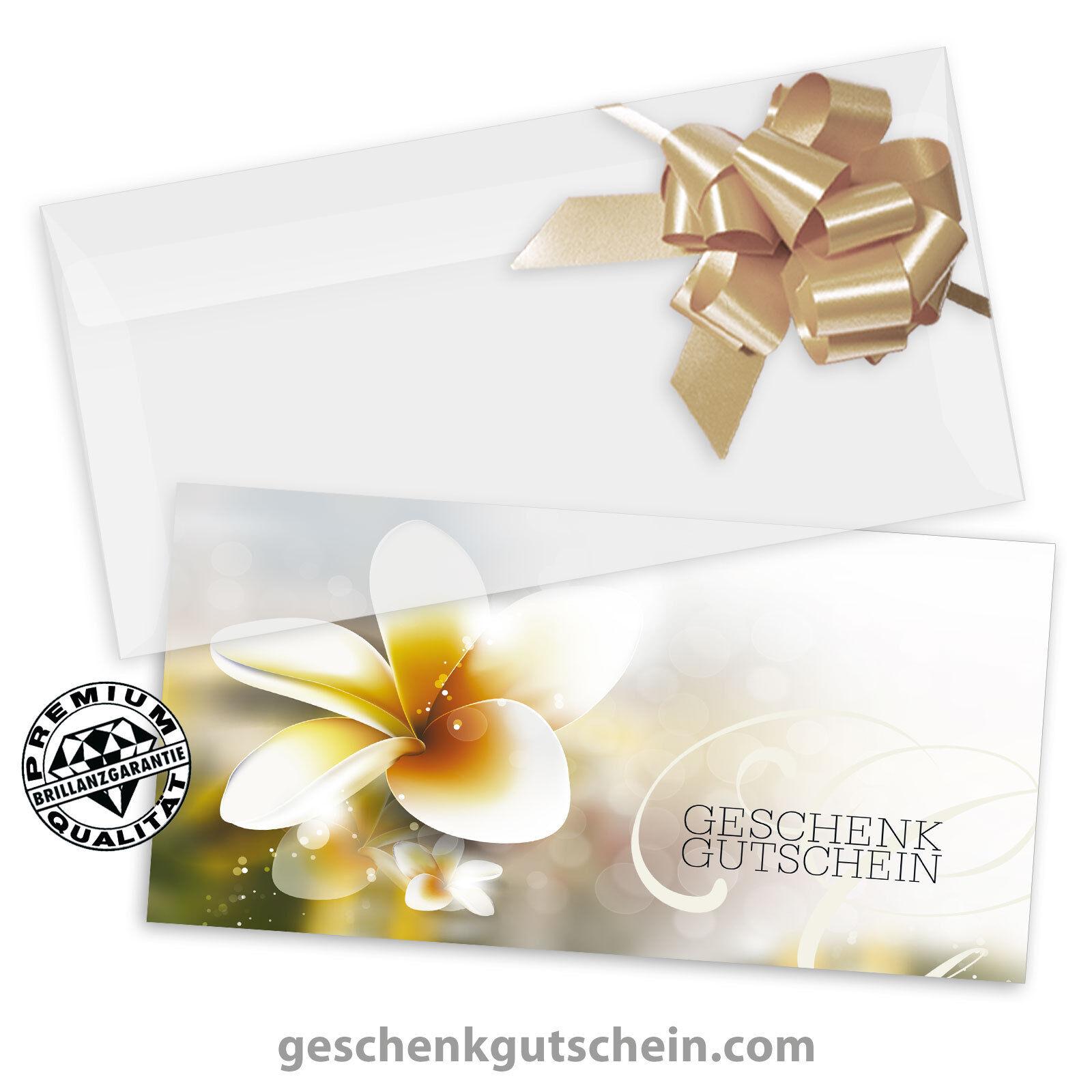 Gutscheinkarten  DINlang  mit KuGrüns und Schleifen für Massage Verwöhnen MA9240
