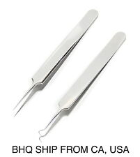 Premium Stainless Steel Bend Curved Blemish Extractor Tool for Remove Whitehead
