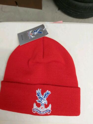 Crystal Palace FC Rouge Wooly Beanie Chapeau Neuf Avec Étiquettes