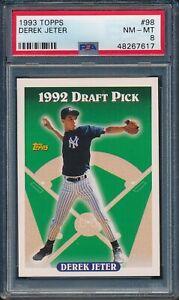 1993-Topps-Baseball-Derek-Jeter-ROOKIE-98-PSA-8-YANKEES-NM-MT-HOF