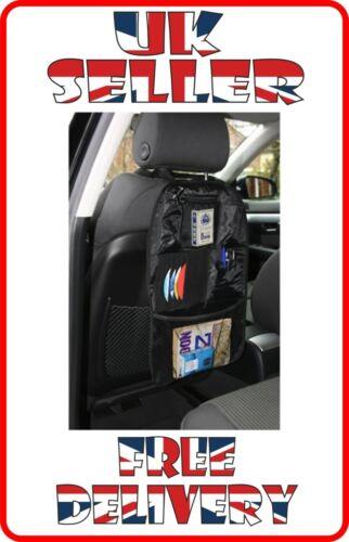 Car Back Seat Organiser Holder Travel Bag Tidy Multi Pocket Storage velcro no1