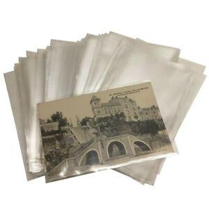 200-Etuis-ou-Pochette-Plastique-pour-CPA-carte-postale-ancienne-100-MICRONS