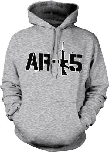 AR-15 Rifle Pro-Gun 2nd Second Amendment Political Hoodie Pullover Sweatshirt