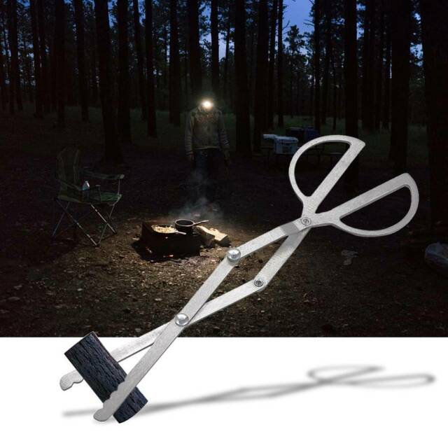 Folding Grabber Tweezers Tongs Tools Hiking Traveling Picnic BBQ Clip for Stove