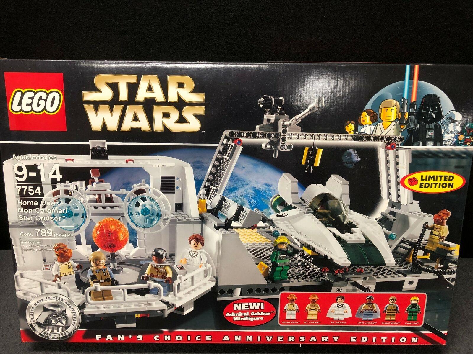 LEGO BRAND STAR WARS 7754 HOME HOME HOME ONE MON CALAMARI STAR CRUISER NEW NIB 10th ANNIV 81d53b