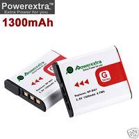 2x 1300mah Np-bg1 Battery For Sony Cyber-shot Dsc-w80 Dsc-w90 Dsc-w100 Dsc-w150