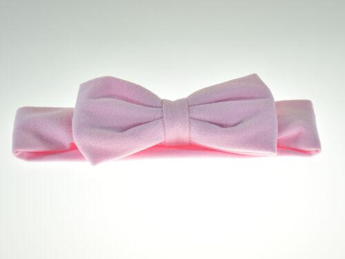 Pink Baby Girls Handmade Soft Cotton Headband One Size
