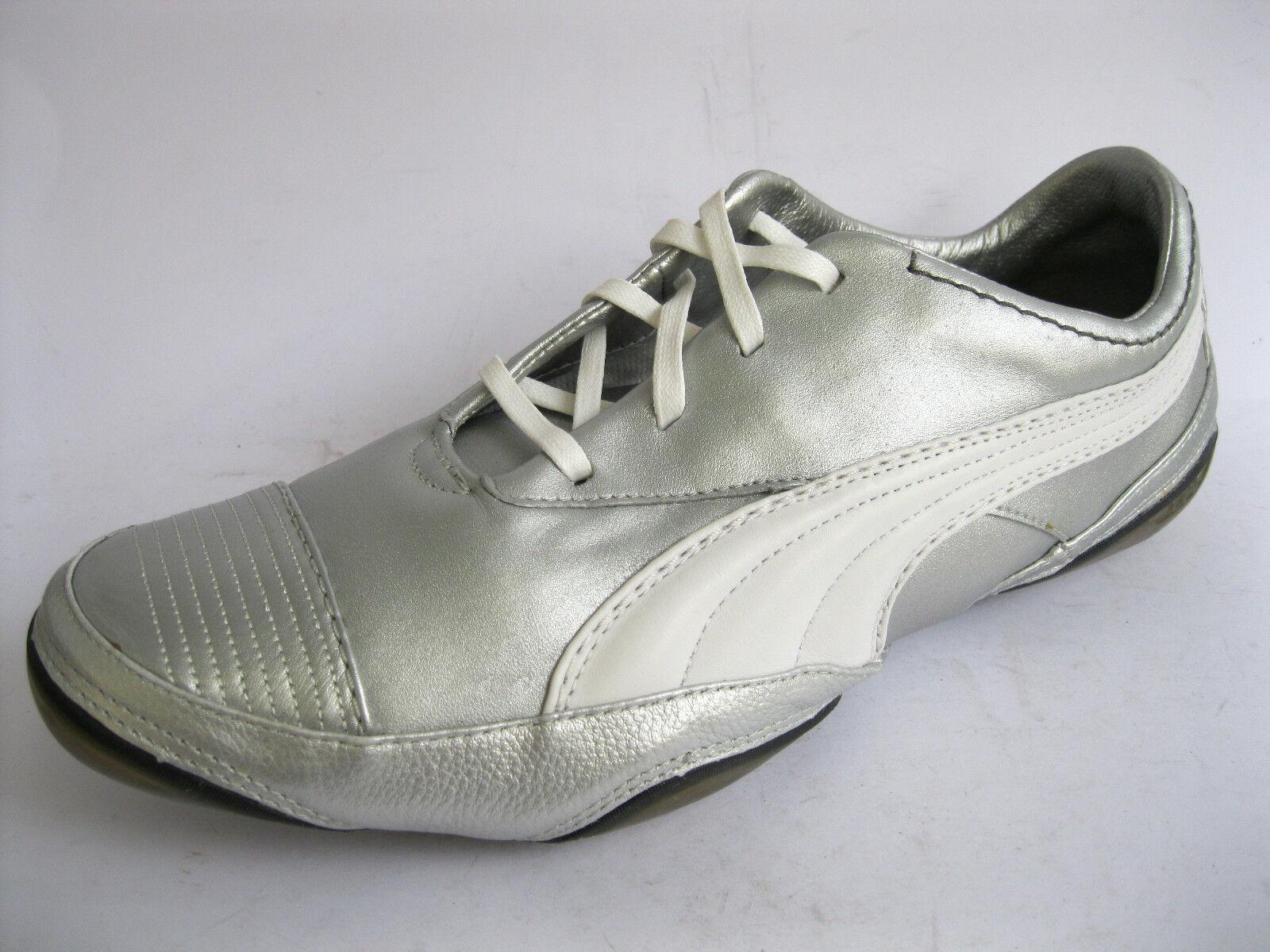 Puma USAN 182962 09 Hombre Plata/Blanco Dark Shadow Shadow Dark Leather Trainers (40A) (Ket) 3891e1
