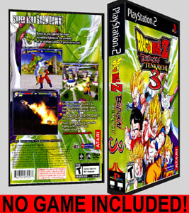 Details About Dragon Ball Z Budokai Tenkaichi 3 Ps2 Reproduction Art Dvd Case No Game