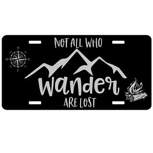 Not All Who Wander are Lost Chrome License Plate Frame #2