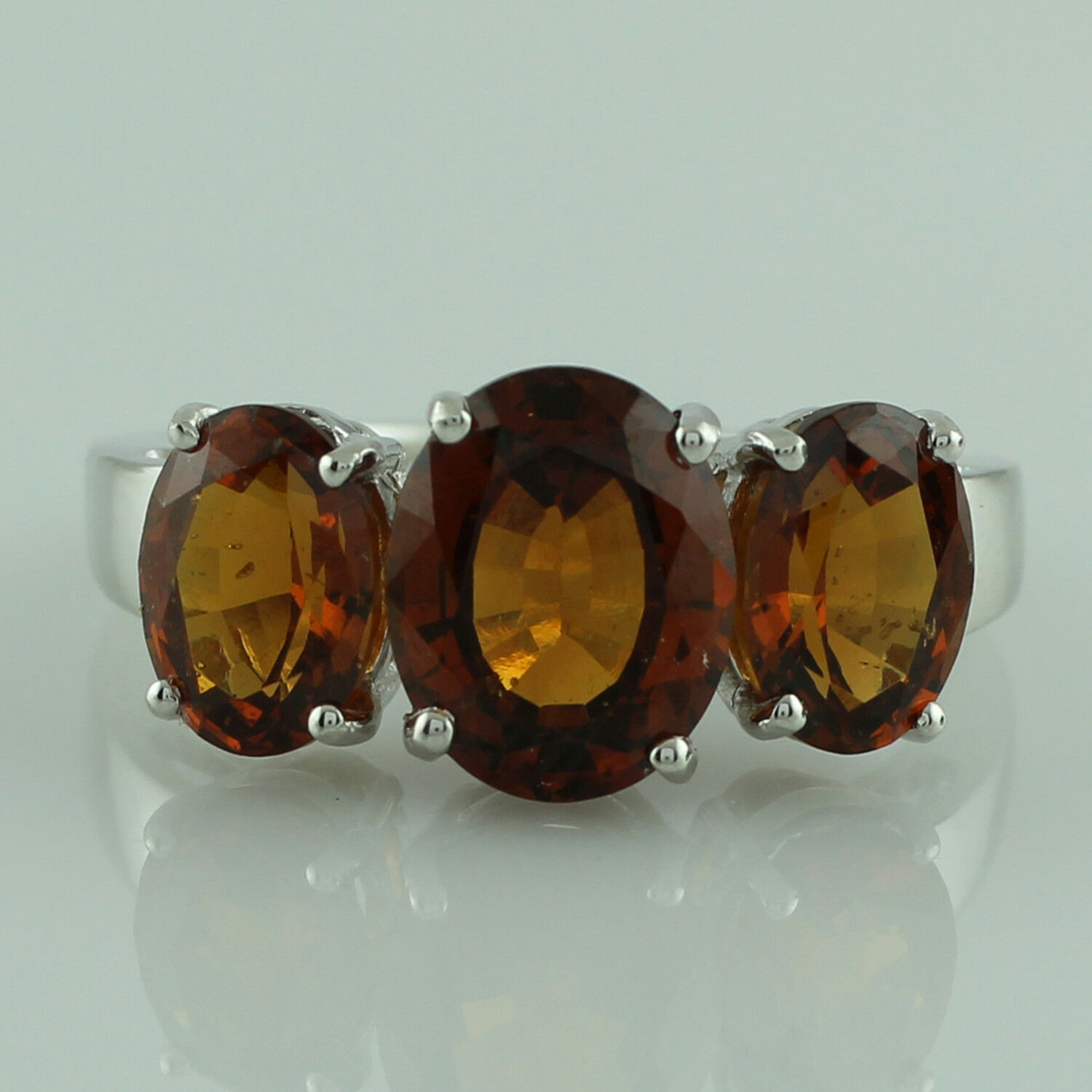 Indian Hessonite 6.40 Ct. Natural Gemstone Ring Solid gold Anniversary Jewelry