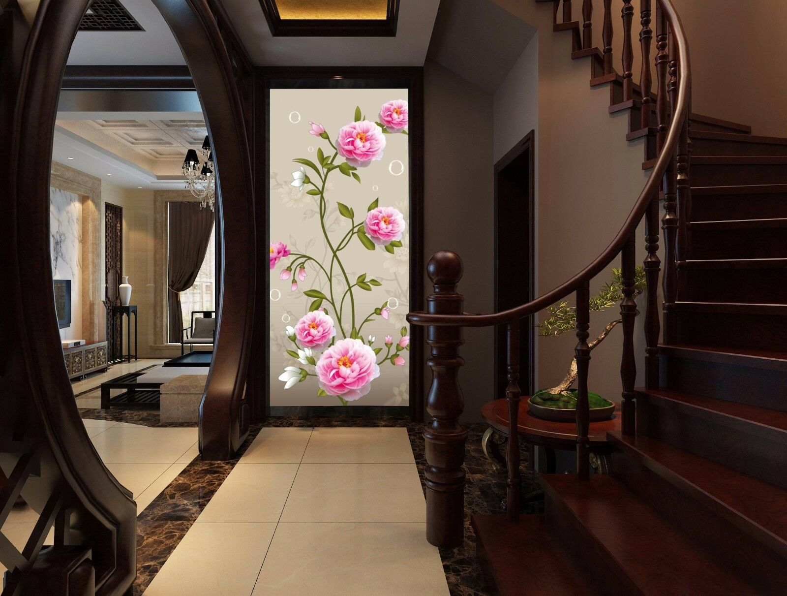 3D Fresh peonies 36565 Wall Paper Wall Print Decal Wall Deco Indoor wall Murals