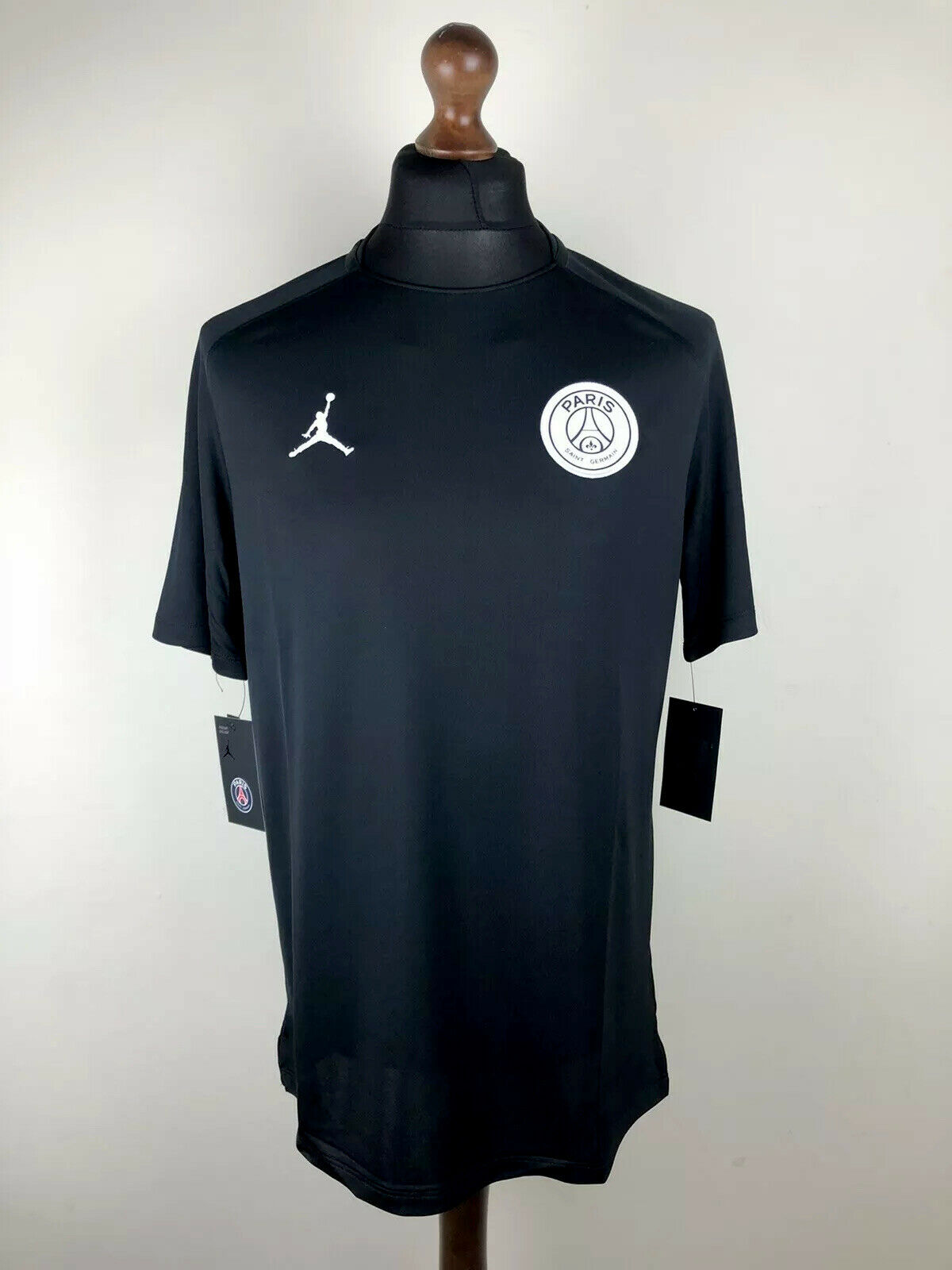 Nike Paris St Germain Psg Crest T Shirt Mens Charcoal Football Soccer Top Tee For Sale Online Ebay