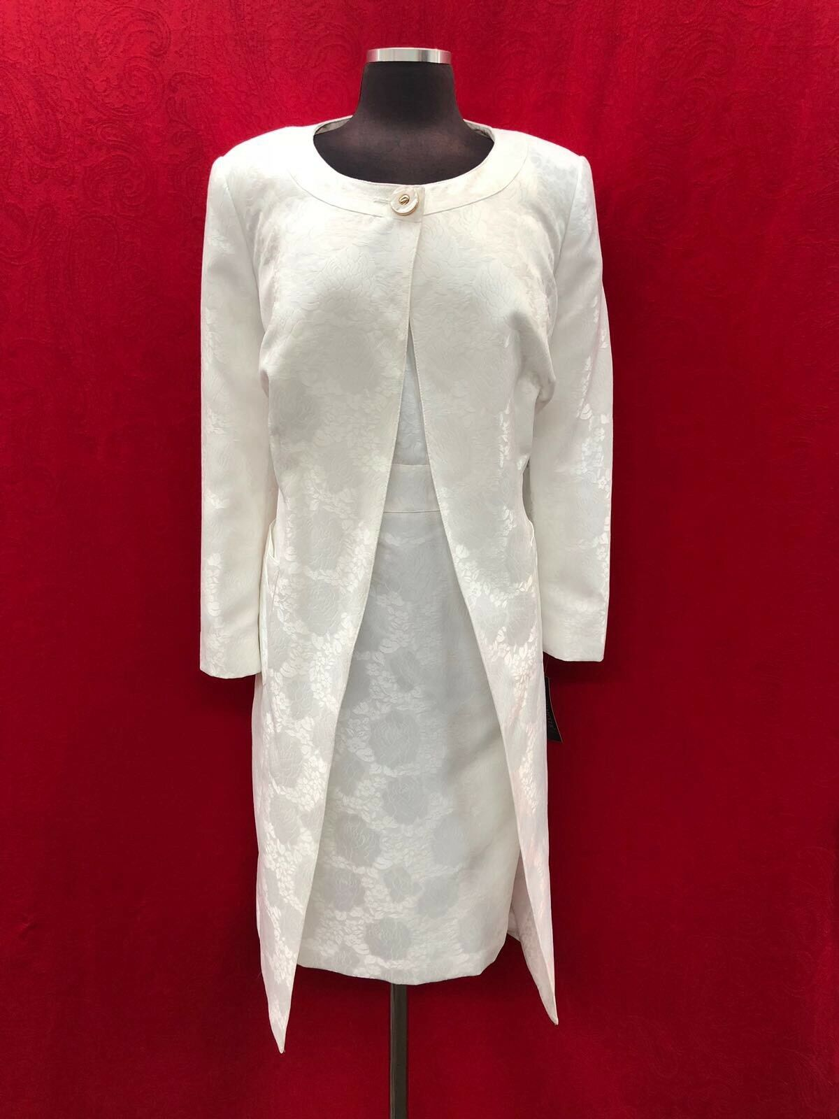 JOHN MEYER DRESS SUIT  WHITE SIZE 14W LENGTH 41  LINED PLUS SIZE NEW WITH TAG