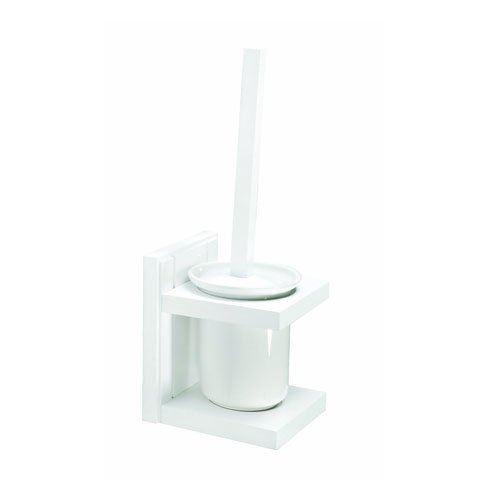 Blanc Classique MDF bois givré pot Maine Brosse De Toilette Support Baignoire