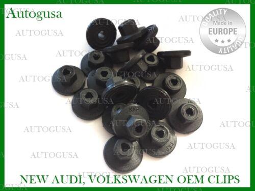 VW PLASTIC NUTS UNTHREADED ENGINE COVER UNDERTRAY SPLASHGUARDS CLIPS 20PCS AUDI