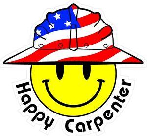 3-Happy-Carpenter-Smiley-USA-Hardhat-Oilfield-Helmet-Toolbox-Sticker-H827