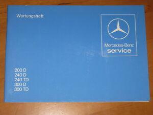 Mercedes-Benz-Wartungsheft-Scheckheft-W-123-neu-Orginal-NOS-Diesel
