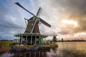 Cuadro. Fotografía de paisaje. Molinos de Zaanse Schans.