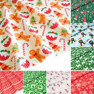 Christmas-Fabric-Red-Blue-Per-HALF-METRE-Bundle-Polycotton-Remnants