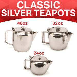 Details about Catering Cafe Stainless Steel Teapot Vintage English British  Tea 2-12 CUP UK