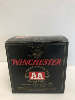 Limited Edition Winchester AA Shotgun Shell 40th Anniversary Metal Boxes
