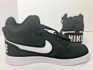 Nike Court Borough Medio NegroBlanco para Hombre Talla 8