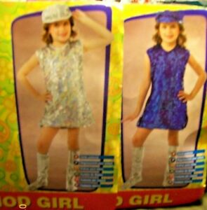 dce892ea1174 Feelin Groovy 60 s Mod Girl Glitter Sequin Disco Costume Dress-Girl ...