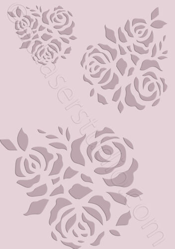 Roses Floral Stencil Vintage Template Card making Paint Furniture Crafts FL79