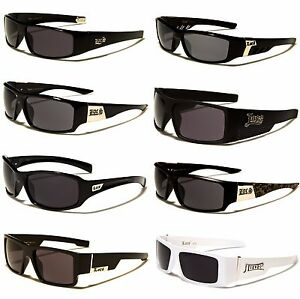 7ff726f0bfc08 Image is loading Mens-LOCs-Black-Hardcore-Sunglasses-Wrap-Around-Shades-