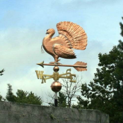 SWEET COPPER TURKEY WEATHERVANE  #185  MADE IN USA