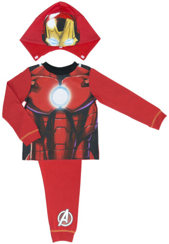 2-8 Years Marvel Avengers Assemble Iron Man Hooded Boys Pyjamas