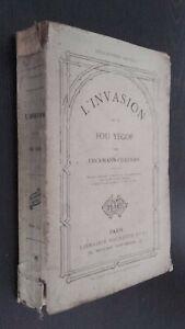 LA INVASIÓN O El Loco Yegof E-Chatrian Lib. Hachette Hetzel Frontispicio Figuras