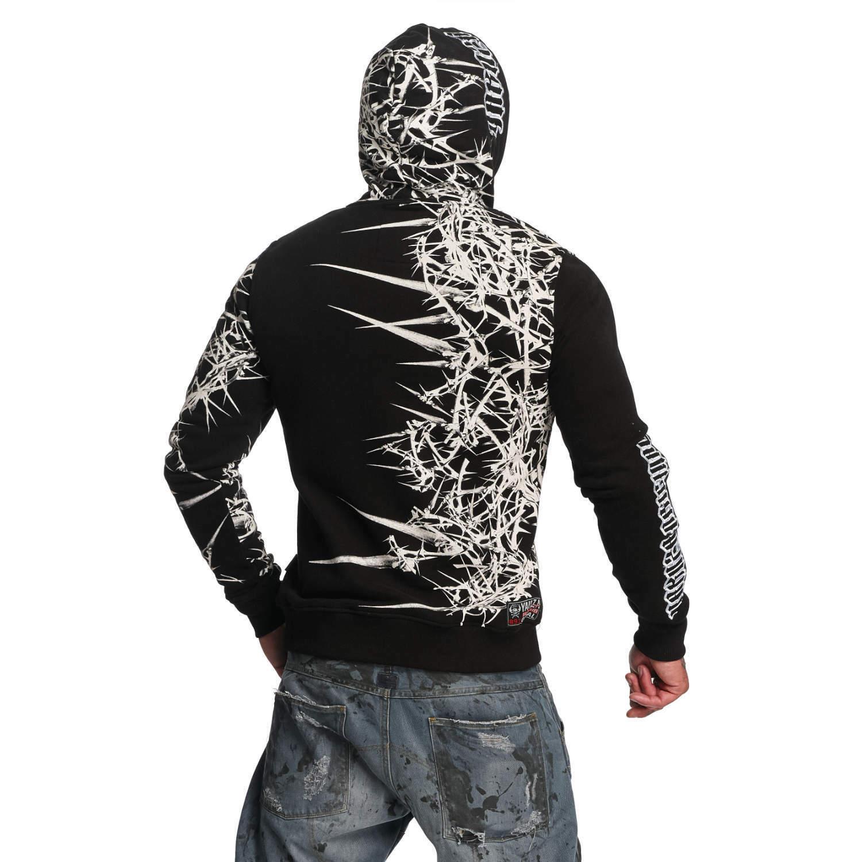 YAKUZA - Herren Hoodie HOB 11004  Thorns  schwarz (schwarz)