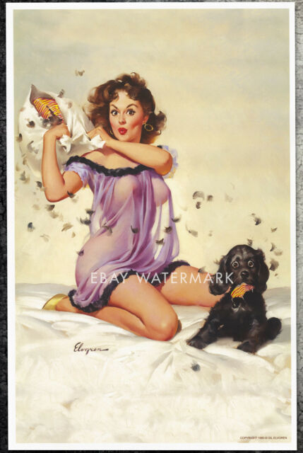 1950/'s Vintage Pin-Up Girl S For Spanking Poster  A3 A2 Print